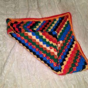 Knit Throw Blanket 75×75cm